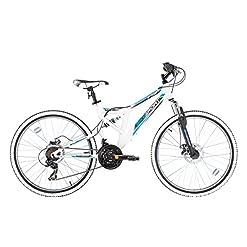 """Bikesport INTEGRAL Bicicletta Mountain Bike Doppia sospensione 26"""" , Shimano 21 cambios"""