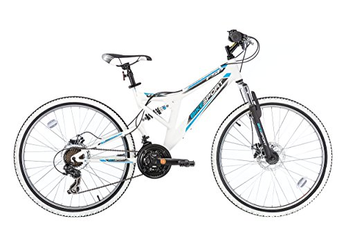 "Bikesport INTEGRAL Bicicletta Mountain Bike Doppia sospensione 26"" , Shimano 21 cambios"