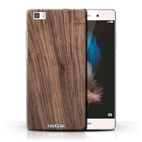 Stuff4® Hülle/Hülle für Huawei P8 Lite/Nussbaum Muster/Holz/Holzmaserung Muster Kollektion -