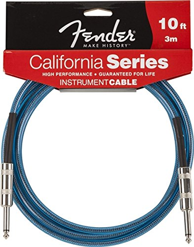 Fender 099-0510-002 3m California Instrumenten Kabel - Lake Placid Blue