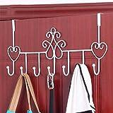 YOTA HOME Garderobe Kleiderbügel Kreativ Bügeleisen Multifunktions - Türhaken Starke Aufhänger Bad Handtuch Kleidung Nail - Free Hook Kleiderablage (Farbe : Weiß)