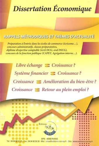 Dissertation économique aux concours :: Rappels méthodologiques et thèmes d'actualité