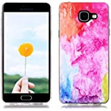 Étui en Silicone pour Samsung Galaxy A5 2016 SM-A510F, Silingsan Silicone Case Coque Transparent TPU Housse Design Unique Étui Souple Flexible Case Résistant Aux Rayures Étui de Protection Complet Étui à Absorption de Choc - Color Art