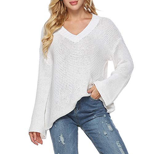 MIRRAY Damen Plus Size Lose Langarm Mode T-Shirt Tops Solid Pullover Bluse Pullover