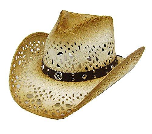 modestone-unisex-sheriff-star-concho-straw-cappello-cowboy-tan-brown