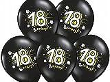 Luftballon 18.Geburtstag schwarz Partydekoration