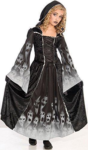 Kinder Mädchen Kinder Sensenmann Soul Eater Kleid Robe Halloween Horror unheimlich Kostüm Kleid Outfit 6-12 Jahre - 9-12 years (Kostüm Sensenmann Mädchen)