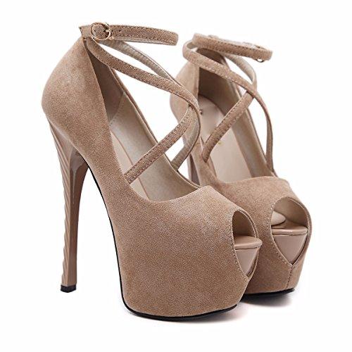 GTVERNH-albicocca 4.5cm scarpe night club hentian alto scarpe col tacco molto bene i sandali con la fase di modelli sulla passerella scarpe scarpe,trentotto Thirty-eight