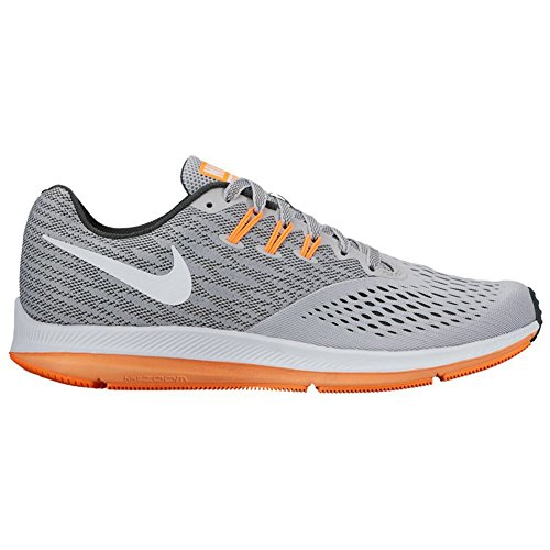 Nike Zoom Winflo 4, Chaussures de Running Homme Wolf Gray/White/Anthracite/Tart