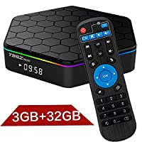2017 Newest T95Z Plus TV Box, 3GB RAM/32GB ROM Android 7.1 Smart Mini PC support Octa Core 4K Resolution Dual Band WiFi 2.4GHz/5GHz Bluetooth 4.0
