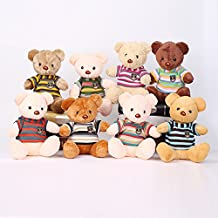 Baybee Premium Stuffed Teddy Bear | Featuring T-shirt and Embroidery Toys For Kids Assorted Color Teddy bear ( Pack of 1 )