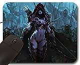Sylvanas Windrunner Mousepad WOW - World of Warcraft Accessory ( A ) Mauspad