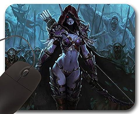 Sylvanas Windrunner Mousepad WOW - World of Warcraft Accessory ( A ) (World Of Warcraft Mouse Pad)