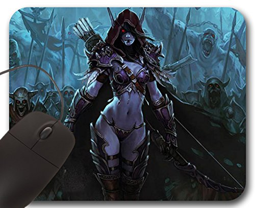 Mousepad Sylvanas Windrunner - Tappetino per Mouse WOW - World of Warcraft (A)