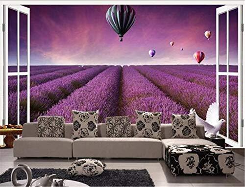 GBHL Fototapeten 3D Lila Blumen Tapeten Wohnwände Tapeten Schlafzimmer Fototapeten Wohnkultur Landschaftsmalereien, 300x210 cm