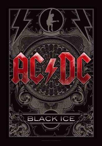 AC/DC-Black Ice-Bandiera Poster 100% poliestere-dimensioni 75x 110cm