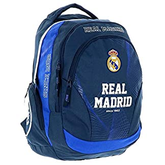 51UXmb s4GL. SS324  - Real Madrid Exclusiv y ergonómico Mochila Ronaldo Mochila Escolar Bolsa 45x 31x 16cm Acero 2018