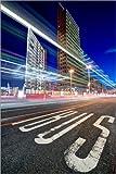Poster 20 x 30 cm: Potsdamer Platz Lichtspuren von Marcus