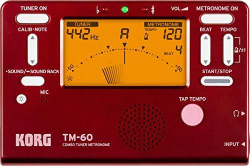 KORG Metronom, Stimmgerät, TM-60, rot