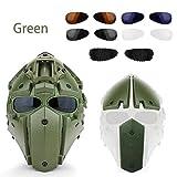 StageOnline Casco táctico con máscara de protección Multifuncional Cascos para Airsoft Paintball Motociclismo Caza Deportes al Aire Libre con Gafas (Paintball, Wargame)