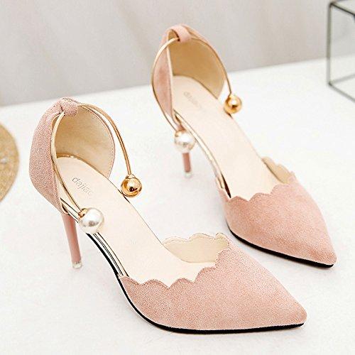 XY&GKDonna Sandali High-Heeled sandali estivi Femmina nuovo stile, Baotou bene con belle e appuntite, 34, Big Red,con il migliore servizio 36Pink