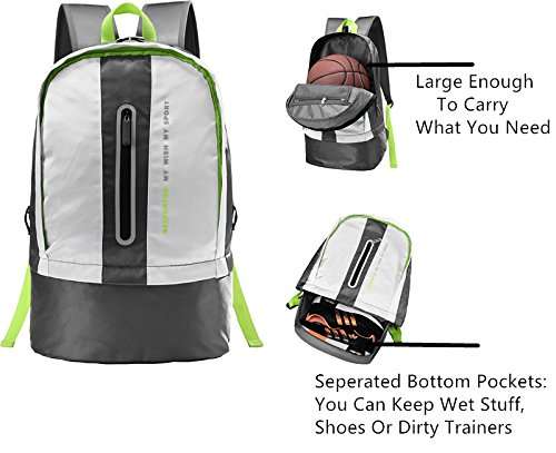 Imagen de besporter grande impermeable ligero  para deporte al aire libre viajar excursionismo colegio saco bolsas alternativa