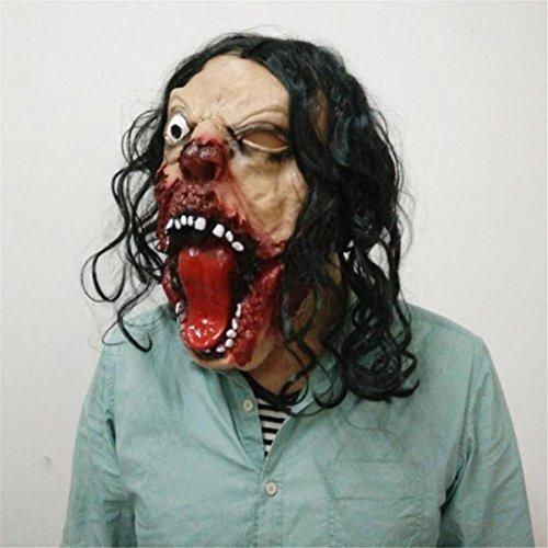 JJH-ENTER Maske Halloween Terror Emulsion Vinylkleber Einäugiger Drache bilden Abschlussball Maske (Alte Vinyl Halloween Kostüme)