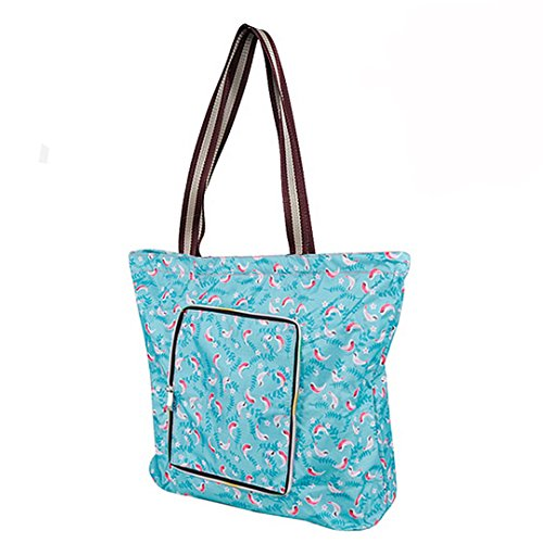 Millya Creative Waterproof Foldable Large Shopping Bag Travel Recycle Bag with Side Pocket