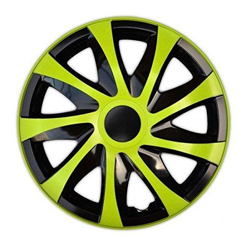 Enjoliveurs DRACO VERTES compatible - Suzuki - Toyota - Volkswagen - Volvo - 4pcs (15\