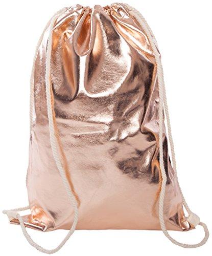 Beutel-Aufdruck-Tasche-Rucksack-Jutebeutel-Muster-Hipster-Turnbeutel-Gym-Stringbags-Bag-Unisex-Antik-GoldMetallic