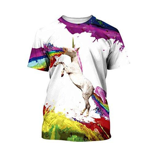 SEVENWELL Unisex Boys Grils Stylish 3D Printed Shirts Funny Ugly Summer Basic Tee Tops