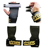 Premium Weight Lifting Straps - Power Grips with the Dual Functionality of Wrist Wraps & Gloves ★ LIFETIME GUARANTEE ★ Hydar Strength Range - Flexible Rubber Grip the Best Alternative to Lifting Hooks and Fat Gripz - Ideal for Heavy Duty Lifting & Bodybuilding – Padded Wrist Support for Push & Pull Movements and Powerlifting Workouts Deadlifts & Bench Press