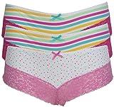 Ex Store Multi Pack brasilianisches Spitze Miederteil Gr. 32, 3 Pack Spots & Stripes