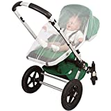 EVEN Naturals Mosquito Net for Stroller, Baby Carrier, Carriage, Infant Car Seat, Cradle, Soft Insect Shield Netting, Babies Fly Screen Protection, White Jogging Bug Net, Easy Installation & Carry Bag
