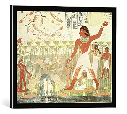 cuadro-con-marco-18th-dynasty-egyptian-hunting-and-fishing-from-the-tomb-of-nakht-new-kingdom-impres