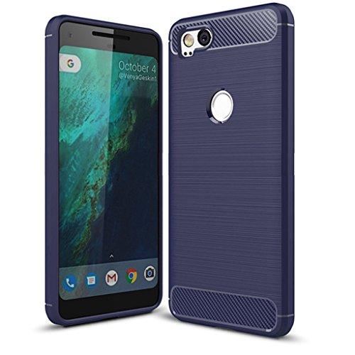 Google Pixel 2Fall, pixel2Fall-suensan TPU Stoßdämpfung Technologie erhöhter Um Schutzhülle für Google pixel2Telefon, TPU Blue