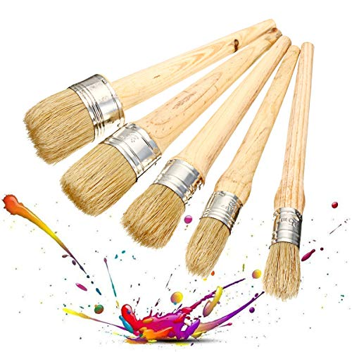 RanDal 20/25/30/40/50Mm Professional Chalk Paint Wax Bürsten Painting Natural Bristles Pinsel - 20 Mm -