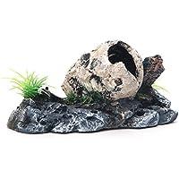 Nicedeal Pirata de Calavera Esqueleto Acuario Adorno Cacher Cave Décor Acuario Suministros para Animales