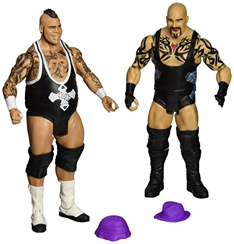 WWE Wrestling Series 27 Battle Pack Brodus Clay & Tensai (Includes 2 Hats)