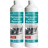 2 x HOTREGA Terrassenplatten-Reiniger 1000ml Flasche