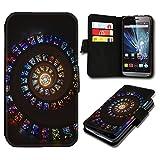 Book Style HTC One Mini 2 Premium PU-Leder Tasche Flip Brieftasche Handy Hülle mit Kartenfächer für HTC One Mini 2 - Design Flip SV120