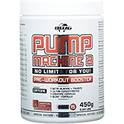 BWG Pump Machine 2, Pre Workout Booster (ohne Koffein), Special Edition - Elite Line (mit Dosierlöffel) Berry Mix Geschmack - 450g Dose
