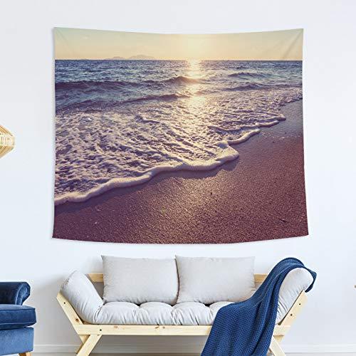 xkjymx Dekorative Decke Tapisserie blau Marine Tapisserie Malerei Schlafzimmer Riese hängenden Stoff Stoff Wandbehang ## 4 150x100 -