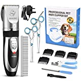 OMORC Dog Clippers, Cordless Pet Grooming Kit 12PCS Rechargeable Cat Shaver Quiet Electric