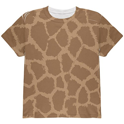 Giraffe Muster Kostüm auf der Ganzen Jugend T Shirt Multi YLG (Giraffen Kostüme Muster)