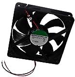 AERZETIX: Ventilateur pour boîtier d'ordinateur PC 12V 120x120x25mm 127,42m3/h 34dBA 2200rpm 24AWG