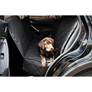 Premium Autoschondecke + 3x Gratis Zubehör (hochwertiger Sicherheitsgurt, nützliches Mikrofasertuch und praktische Tasche mit Reißverschluss) Optimaler Schutz mit dieser Hundedecke für Ihr Haustier, Hund, Auto, Sitzbezüge und Kofferraum in allen