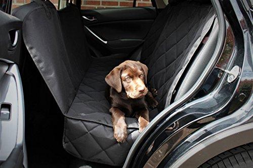 Premium Autoschondecke 3x Gratis Zubehör (hochwertigerSicherheitsgurt nützliches Mikrofasertuch und praktische Tasche mit Reißverschluss). Hundedecke für Haustier, Hunde, Auto, Sitzbezug,Rückbank