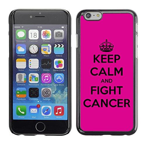 Graphic4You Help Fight Cancer Ribbon Design Harte Hülle Case Tasche Schutzhülle für Apple iPhone 6 / 6S Design #2