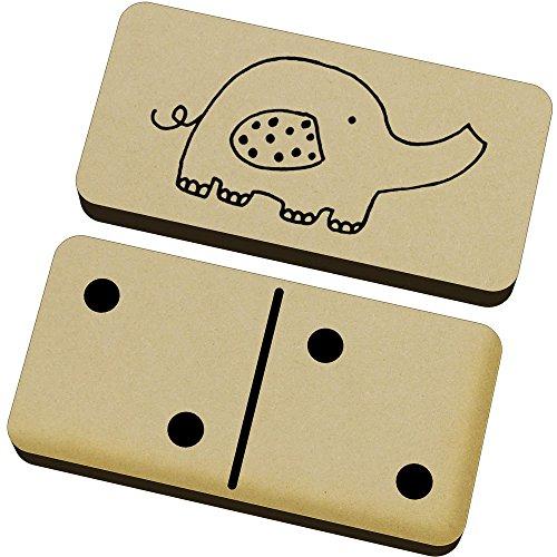 Azeeda 'Elefante' Domino Juego y Caja (DM00001504)